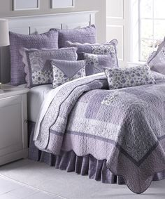 Look at this Lavender Rose Quilt Set on #zulily today!