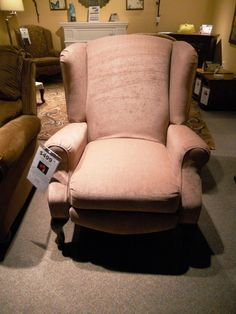 """SEE IT, SNAP IT, POST IT Facebook contest entry: """"Just Right"""" recliner."""