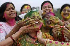 Only Women celebrates Holi in Kundra Village, Hamirpur, UP.