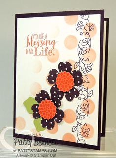 Pansy-punch-dots-mask-bordering-blooms-stampin-up-card  Stampin' Up!