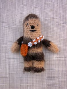 Chewbacca Crochet Doll - Amigurumi - Newborn Photo Prop - Crochet Chewbacca - Chewie Plush Toy - Crochet Figure - crochet Doll Figurine