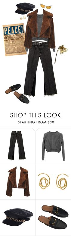 """""""blonde fire"""" by whaaa ❤ liked on Polyvore featuring Local Celebrity, Chicnova Fashion, E L L E R Y, Eugenia Kim, Gucci and Oliver Peoples"""