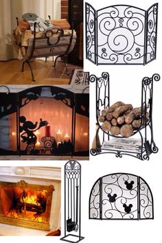 Perfect Disney fireplace sets for a cozy night in! Casa Disney, Disney Rooms, Disney Dream, Disney Style, Disney Kitchen Decor, Disney Home Decor, Disney Crafts, Deco Disney, Disney Mickey