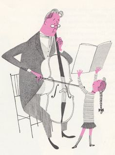 My Vintage Avenue !!! 50's and 60's illustrations !!!: What makes an orchestra, written and illustrated by Jan Balet in 1959.