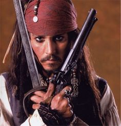 """Johnny Depp as Captain Jack Sparrow in """"Pirates of the Caribbean"""" Series Johnny Depp, Here's Johnny, Captain Jack Sparrow, Jake Sparrow, Hollywood Action Movies, Pirate Life, Funny Movies, Hd Movies, Horror Movies"""