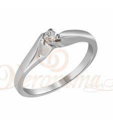Μονόπετρo δαχτυλίδι Κ18 λευκόχρυσο με διαμάντι κοπής brilliant - MBR_009 Engagement Rings, Jewelry, Rings For Engagement, Wedding Rings, Jewlery, Jewels, Commitment Rings, Anillo De Compromiso, Jewerly