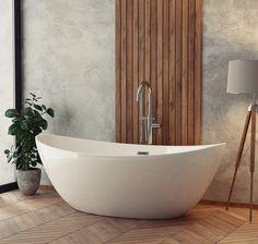 Wanna wolnostojąca ScandiBath Alta w zestawie z korkiem klik-klak i przelewem.  #scandibath #showerdesign #wanny #wolnostojąca #owalna #frestanding #oval #bath #bathtube #designbath #budowadomu #instagood #architekturawnętrz #mieszkaniewbloku #castorama  #modernbathroom #projektantwnetrz Bathroom Goals, Bathtub, Home, Random, Houses, Bathing, Standing Bath, Bathtubs, Bath Tube