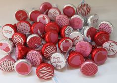 valentine decorating ideas | Love these custom Valentine's stickers to personalized any color ...