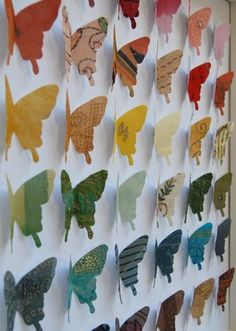 Butterflies in a variety of scrapbook paper