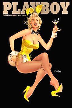 Marilyn Monroe, Playboy, magazine, cover, vintage, history