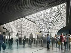 Image 6 of 12 from gallery of U-R-A Chosen to Redesign Moscow's Novoperedelkino Subway Station. System Architecture, Hotel Architecture, Light Architecture, Architecture Design, Underground Tube, Underground Cities, Safari, Light Study, Chief Architect