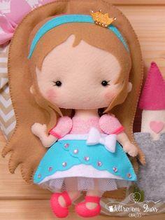 Pré-Venda Apostila Digital Princesa Cute - Feltro em Duas