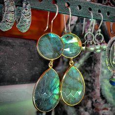 Labradorite earrings by @gutiepie aka Gutesha Collection