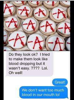 They look great! Cute -A cookies posted by Shannon Benson! #PLL