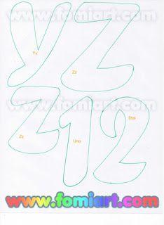 Moldes Gratuitos: 31- Abecedario Gratuito Estilo Fomiart con Maestra con Manzana Creative Lettering, Lettering Styles, 3d Letters, Letters And Numbers, Felt Name, Monogram Alphabet, Letter A Crafts, Letter Templates, Cardmaking