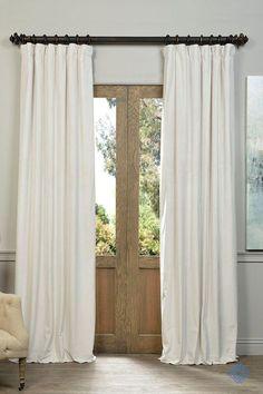 Half Price D Off White Blackout Velvet Pole Pocket Single Panel Curtain 50 X 84