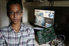 """When is America going to get serious about the problem of white kids getting suspended from school for nothing? Yet, a Muslim kid gets invited to the White House and lauded by media for his homemade bomb looking clock he brought to school.  If a white Christian student had made a bomb looking """"clock"""" he would have been suspended, arrested and have it on his record for the rest of his life."""