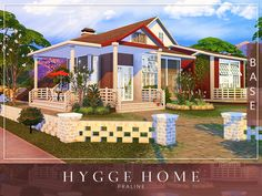 By Pralinesims Found in TSR Category 'Sims 4 Residential Lots' The Sims 4 Lots, Casas The Sims 4, The Sims 4 Download, Hygge Home, Sims 4 Houses, Sims Community, Sims Resource, Electronic Art, Sims Cc