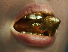 Gold Tongue - Anya Lyagoshina by Benjamin Lennox. Makeup by Violette.