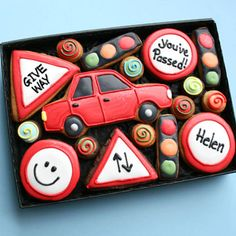 Personalised Driving Success Cookie Gift Box    £18 per gift box. Box size 240mm x 170mm