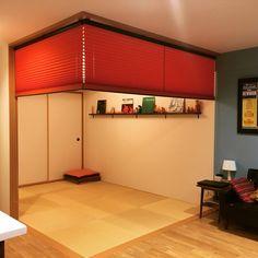 sakurakko60さんの、部屋全体,和室,マトリョーシカ,こけし,プリーツスクリーン,DIY棚,レコードジャケット,のお部屋写真