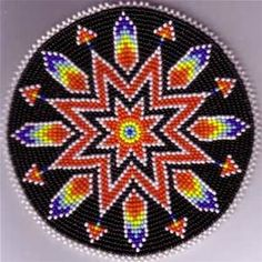 Native American Beadwork, Native American and Native American Beading Native Beading Patterns, Beadwork Designs, Beaded Earrings Patterns, Bead Loom Patterns, Peyote Patterns, Crochet Patterns, Crochet Afghans, Indian Beadwork, Native Beadwork