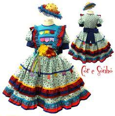 Vestido de Menina Quadrilha Festa Junina