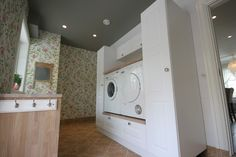 You searched for label/Vaskerom - Villa Von Krogh Laundry Room Inspiration, Interior Inspiration, Small Laundry Rooms, Modern Kitchen Design, Stacked Washer Dryer, Washing Machine, Sweet Home, Villa, Home Appliances