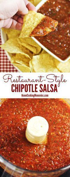 Restaurent-Style Chipotle Salsa