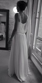 Ample robe de mariée bustier en crêpe et mousseline de soie - Gilles Zimmer