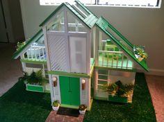 Blogger's Own: Green Repaint OOAK Custom Barbie Dream House