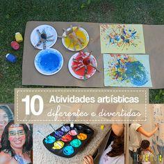 Com um pouco de inspiração, você encontra muitas maneiras divertidas, criativas e diferentes para fazer arte com as crianças.