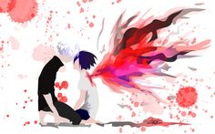 Tokyo Ghoul: Kaneki and Touka by Lennachan on DeviantArt