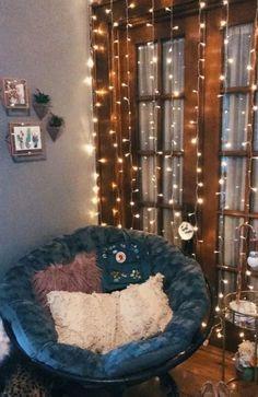 33 creative ways fairy lights bedroom ideas teen room decor 20 Bedroom Decor For Couples, Diy Home Decor Bedroom, Teen Room Decor, Diy Wall Decor, Living Room Decor, Bedroom Ideas, Modern Bedroom, Master Bedroom, Contemporary Bedroom