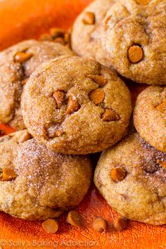 These chewy pumpkin cookies come together without a mixer and with minimal dough chilling time. They're perfect for the lady cookie procrastinator. Make ahead: Cookies can be stored in airtight containers in freezer for up to 3 months. Dough balls can be frozen (without cinnamon sugar) in an airtight bag for 3 months. Let sit at room temperature for 10 minutes before rolling in sugar and bake for 2 extra minutes.  Get the recipe from Sally's Baking Addiction »  - GoodHousekeeping.com