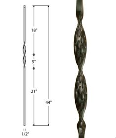 Single Ribbon Iron Baluster : 2560