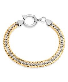 Take a look at this Gold Two-Tone Link Bracelet today!