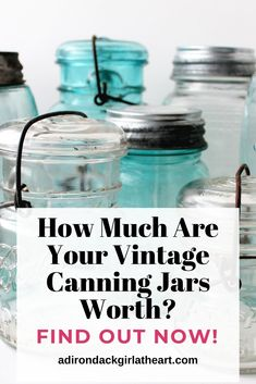 This is a price guide. Learn about values with this vintage canning jar price guide, including manufacturers, dates, and prices. Ball Canning Jars, Ball Mason Jars, Mason Jar Gifts, Vintage Mason Jars, Vintage Bottles, Vintage Glassware, Vintage Stoves, Decorated Jars, Decorated Cookies