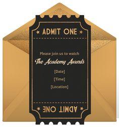 Academy Awards Party Invitations Oscar Awards Party Invitations ...