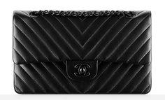 Chanel Chevron Classic Flap Bag $4,900 ... Lust List