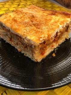 Παστίτσιο λαχανικών με «μπεσαμέλ» γιαουρτιού - www.olivemagazine.gr Gourmet Recipes, Vegan Recipes, Bechamel, Vegetable Dishes, Lasagna, Food Porn, Food And Drink, Pasta, Sweets