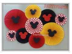 Inspired  Mickey Mouse  Wall Decor Rosette Paper by PartyFiesta