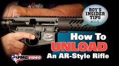Unloading An AR-Style Rifle - Unloading Long Guns (Part 6 of 6): Knowing how to safely unload AR-style rifles is a must for any new shooter. American Handgunner Editor Roy Huntington exhibits a safe way to unload virtually any rifle with an AR platform. Click here for more tips: http://www.gunsmagazine.com/how-to-unload-an-ar-style-rifle/