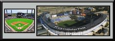 Chicago White Sox US Cellular Field Aerial View Poster- Framed