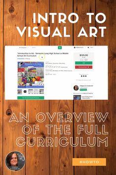 Middle School Art Projects, Classroom Art Projects, High School Art, Art Classroom, Classroom Ideas, Curriculum Planning, Art Curriculum, Art Syllabus, Intro To Art