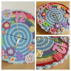 crochet clock cute for a classroom