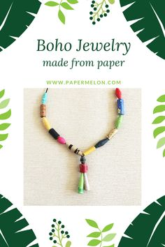 Made from recycled paper, for the hippie at heart. Thic collection of boho jewelry is sustainable handcrafted from upcycled magazines, newspapers, paper bags and many others. Eco-friendly and yet vibrant and colorful, these picks are a treat to your eyes. Bracelet Making, Jewelry Making, Lesbian Gifts, Bohemian Style Jewelry, Handcrafted Jewelry, Handmade, Paper Jewelry, Paper Bags, Dainty Necklace