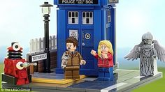 Lego Doctor Who.It's happening.The BBC has signed a licensing agreement with the Lego Group to produce a commercial version of a fan concept for a set featuring the iconic TV character.Lego builder An. Lego Doctor Who, Dr Who Lego, Tenth Doctor, Lego Group, Dalek, Lego Tardis, Cool Lego, T Rex, Lego Sets