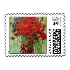 Van Gogh; Still Life: Red Poppies and Daisies Stamps