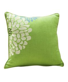 Take a look at this Lime Green Fresca Sandy Wilson Linen-Blend Decorative Pillow by ACG Green Group on #zulily today!